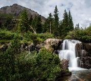 Cascada del verano en Rocky Mountains Imágenes de archivo libres de regalías