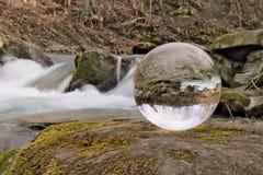 Cascada en bola de cristal Imagen de archivo libre de regalías