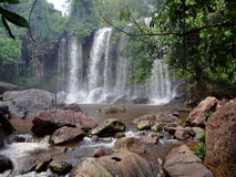 Cascada en Camboya Fotos de archivo