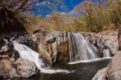 Cascada en Costa Rica exótico cerca de la playa del Samara en costa este fotografía de archivo libre de regalías