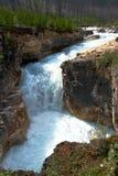 Cascada en el barranco de mármol - A.C. Canadá Foto de archivo libre de regalías