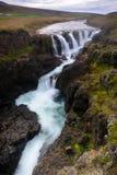 Cascada en el barranco Kolugil imagen de archivo libre de regalías