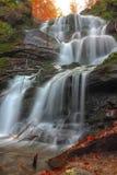 Cascada en el bosque del otoño fotografía de archivo libre de regalías