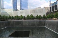 Cascada en el 11 de septiembre Memorial Park Imagen de archivo libre de regalías