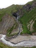 Cascada en el Himalaya de 4000m+ Annapurna Fotos de archivo libres de regalías