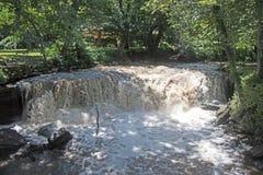 Cascada en el parque de estado de Minneopa Fotografía de archivo libre de regalías