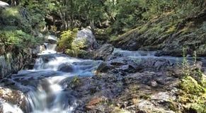 Cascada en el parque de Hiawatha Imagenes de archivo