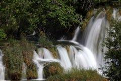 Cascada en el parque nacional de Krka Imágenes de archivo libres de regalías