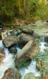 Cascada en el parque nacional de las aguas termales foto de archivo libre de regalías