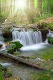 Cascada en el parque nacional Sumava-Alemania Fotos de archivo