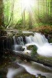 Cascada en el parque nacional Sumava-Alemania Imagen de archivo libre de regalías