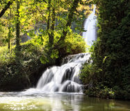 Cascada en el parque natural de Monasterio de Piedra Fotografía de archivo libre de regalías