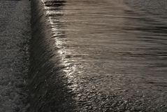 Cascada en el río de Guadalquivir Imagen de archivo