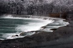 Cascada en el río de Mreznica Foto de archivo