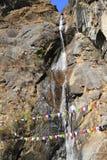 Cascada en el valle de Bhután Imagen de archivo