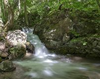 Cascada en el valle de Zadiel Foto de archivo