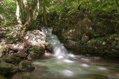 Cascada en el valle de Zadiel Fotografía de archivo