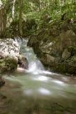 Cascada en el valle de Zadiel Fotos de archivo libres de regalías