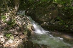 Cascada en el valle de Zadiel Fotos de archivo