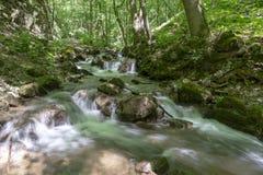 Cascada en el valle de Zadiel Foto de archivo libre de regalías