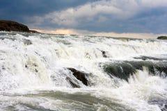 Cascada en el verano, Islandia de Gullfoss Fotos de archivo libres de regalías
