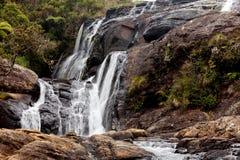 Cascada en Horton Plains National Park, Sri Lanka fotos de archivo