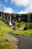 Cascada en Islandia Foto de archivo