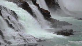 Cascada en Islandia almacen de video