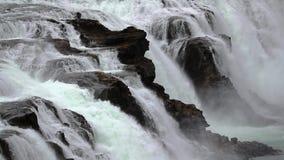 Cascada en Islandia almacen de metraje de vídeo
