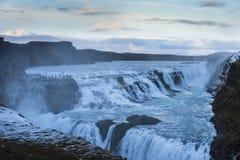 Cascada en Islandia en invierno imagen de archivo libre de regalías