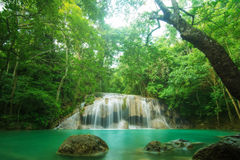 Cascada en Kanchanaburi, Tailandia de Erawan Fotografía de archivo