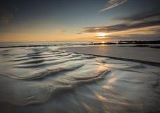 Cascada en la playa Imagen de archivo libre de regalías