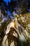 Cascada en mún Gastein durante invierno Fotos de archivo libres de regalías