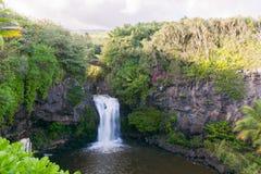 Cascada en Maui, Hawaii Foto de archivo libre de regalías