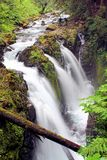 Cascada en montañas Imagen de archivo libre de regalías