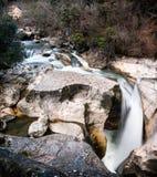 Cascada en montañas de Francia Fotografía de archivo libre de regalías