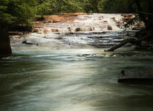 Cascada en Muddy Creek cerca de Albright WV Imágenes de archivo libres de regalías