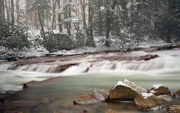 Cascada en Muddy Creek cerca de Albright WV Fotografía de archivo