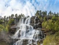 Cascada en Noruega Fotos de archivo