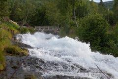 Cascada en Noruega Foto de archivo