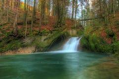 Cascada en otoño Foto de archivo libre de regalías