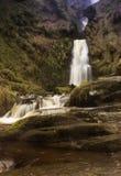 cascada en País de Gales del norte Reino Unido con una exposición larga Imagen de archivo