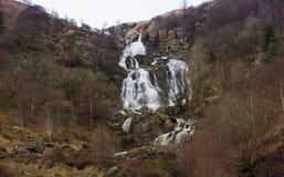 cascada en País de Gales del norte Reino Unido con una exposición larga Foto de archivo