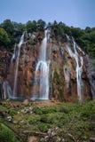 Cascada en parque nacional de los lagos Plitvice Imagen de archivo libre de regalías