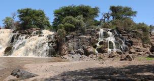 Cascada en parque nacional inundado almacen de metraje de vídeo