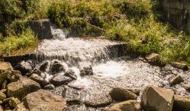 Cascada en pequeña corriente de la montaña Imágenes de archivo libres de regalías