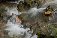 Cascada en pequeña corriente de la montaña Imagen de archivo libre de regalías