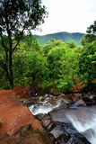 Cascada en selva Foto de archivo libre de regalías