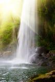 Cascada en selvas con el sol Fotografía de archivo