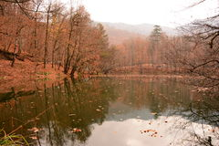 Cascada en siete lagos Foto de archivo